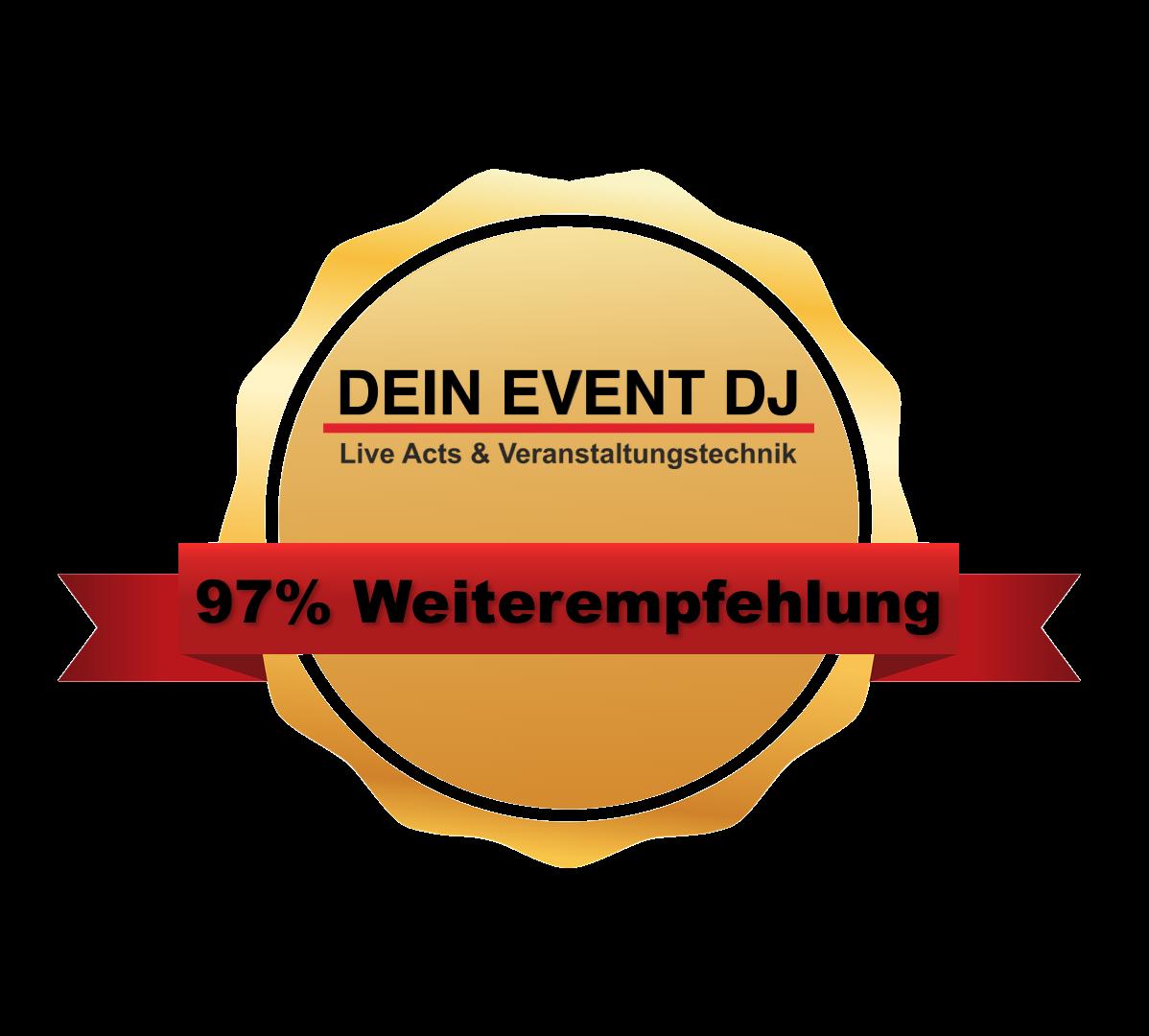 Dein Event DJ Bewertungssiegel